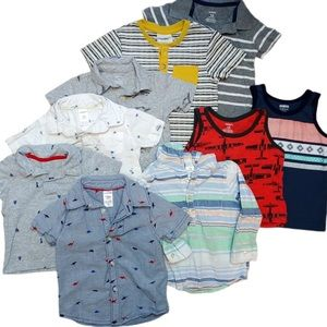 Lot of 9 Baby Boy Summer Tops / Shirts Sz 12 M